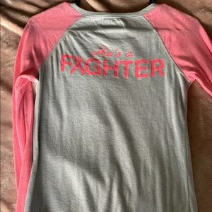 Women's Under Armour Power in Pink Baseball Tee
